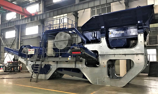 Skid Mounted Electric Drive Jaw Crushing Unit
