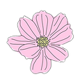 pink flower cut out