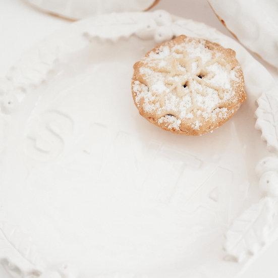 Santa's Holly Berry treat plate