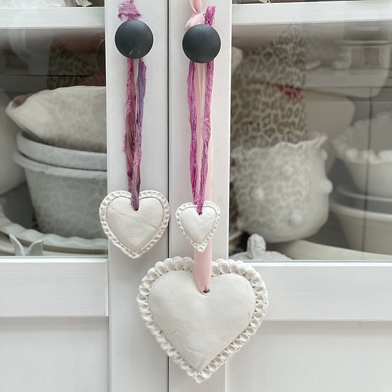 Padded heart with pressed edges