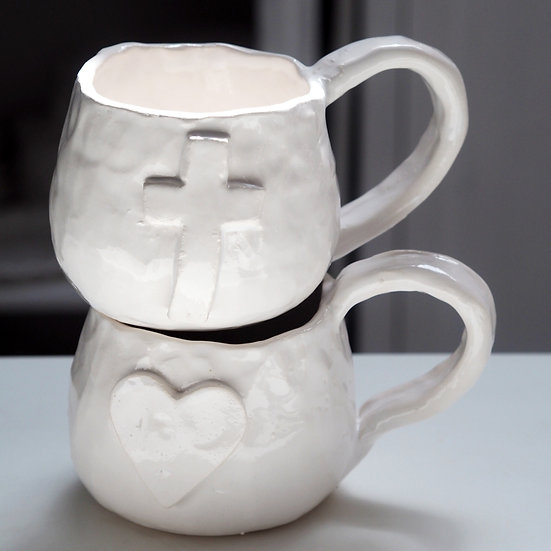 Chunky mug - cross, heart, star