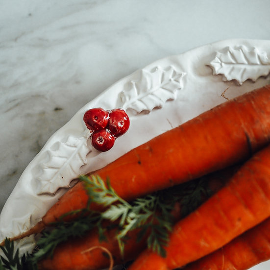 Christmas Holly Berry platters