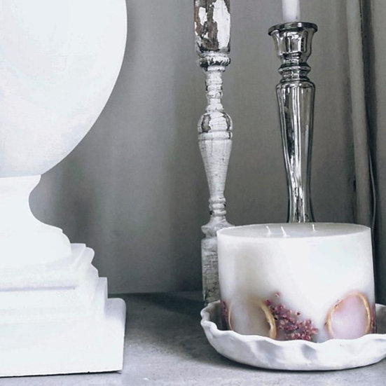 Pillar candle plate - med & large