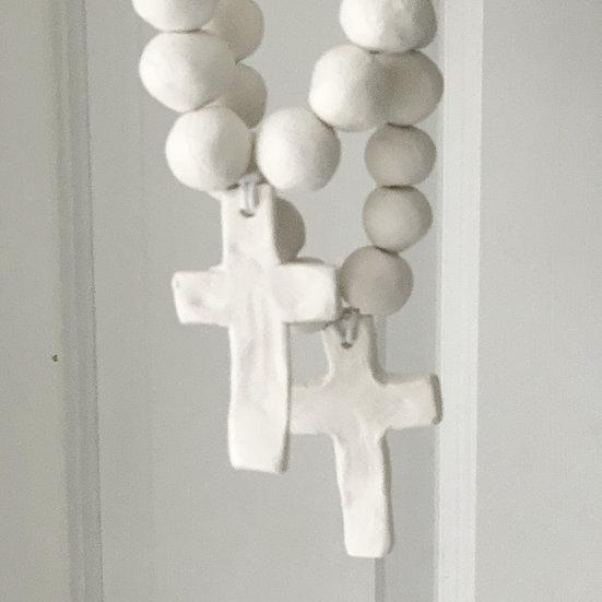 Chunky cross decoration
