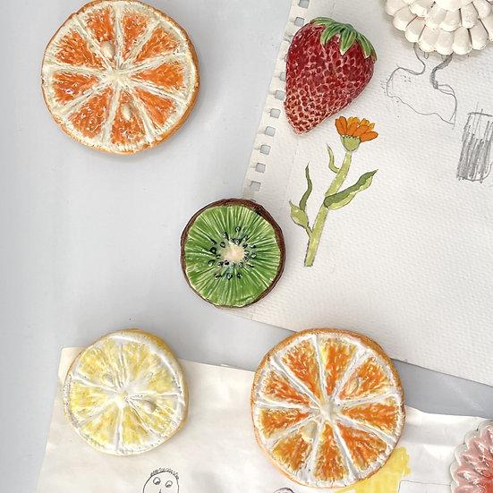 Fruit fridge magnets