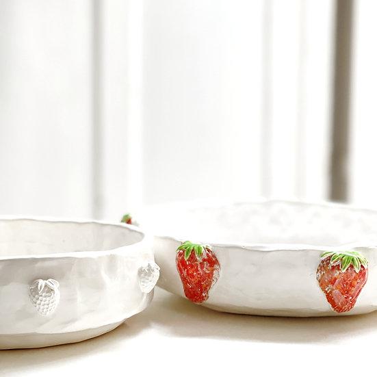 Pasta/noodle/salad bowl - strawberry options