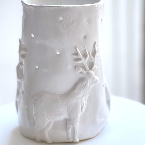 Christmas Reindeer candle holder