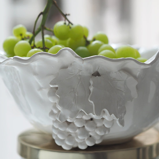 Bunch of grapes serving dish - med, large