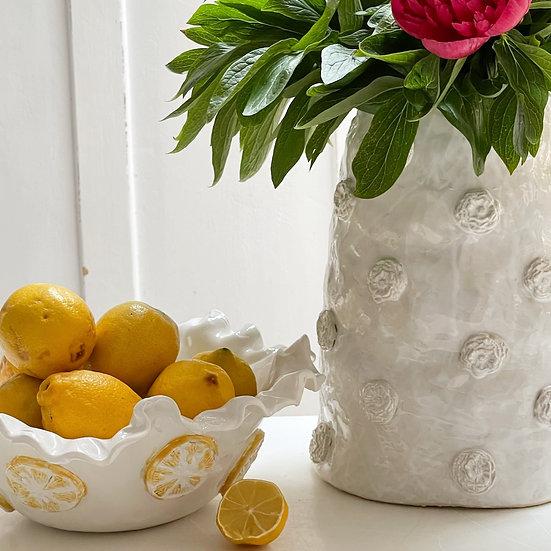 Lemon serving dish - med, large, pedestal