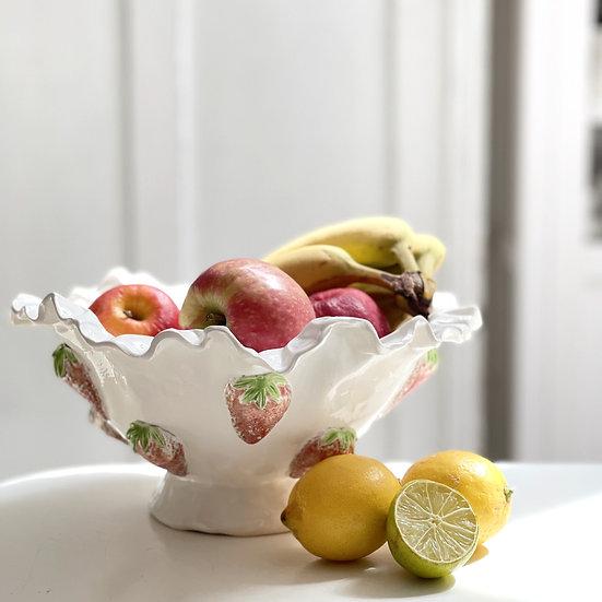 Strawberry serving dish - med, large, pedestal