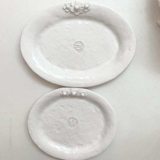 Flower trio platter - med, large