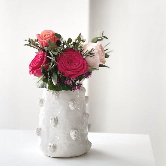 Strawberry vase - small, med, large, jumbo