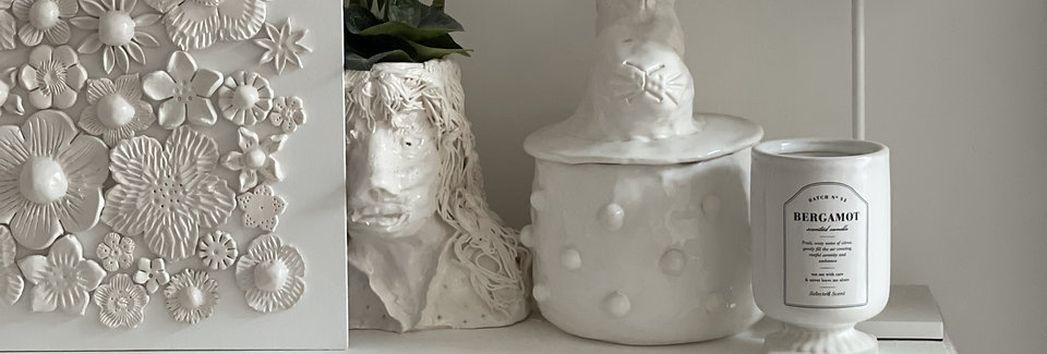 Chunky china flower canvas