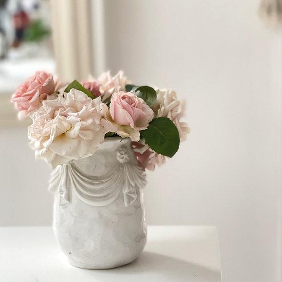 Drape and tassel vase - small, med, large, jumbo
