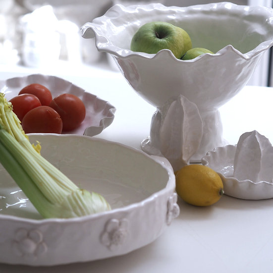 Scattered flower roasting dishes - oval, rect, round