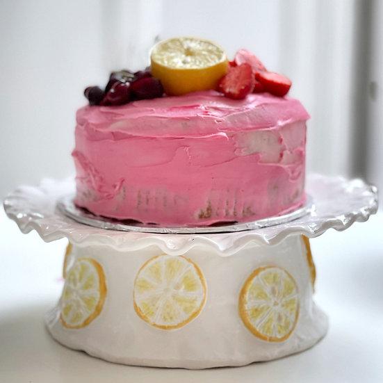 Cake stand - lemon