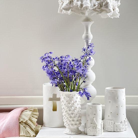 Fancy bobble pedestal vase