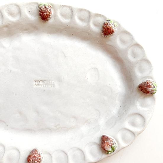 Strawberry platter - med, large