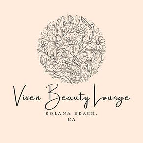 Beige Floral Natural Makeup Beauty Logo.