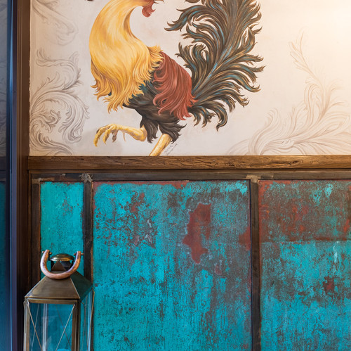 Dettaglio rooster gallo murales CRF impr