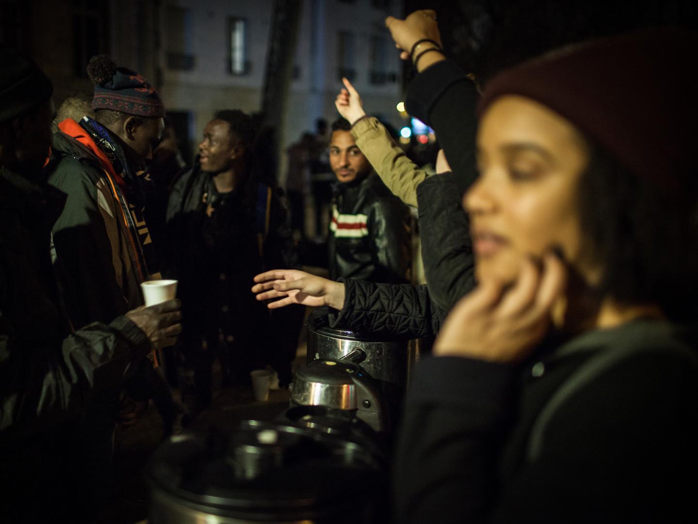 Refugee soup kitchen | Paris