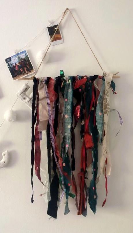 DIY easy fiber art hanging wall art online art class