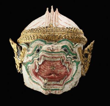 Smithsonian collection, paper mâché mask, thailand art, siam