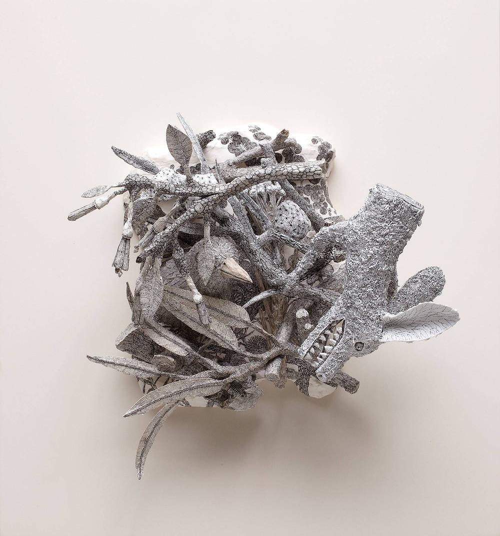 paper mâché, ink, sculpture, Australian artist, James Morrison
