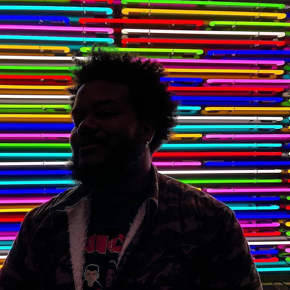 artist, No Noise, neon lights, black artist