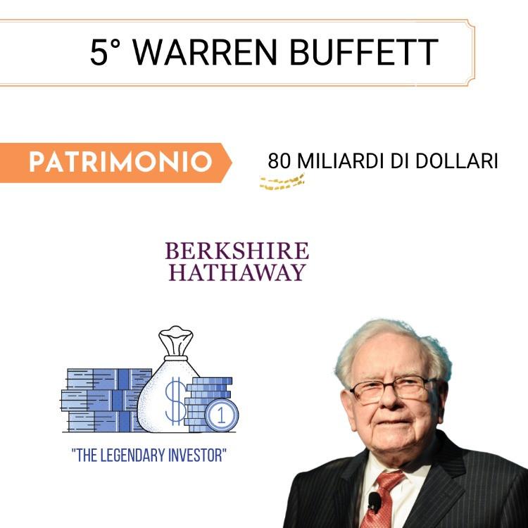 5° Posto - Warren Buffet