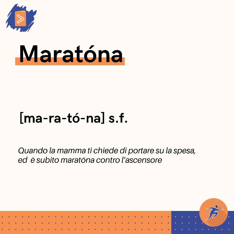 Significato scherzoso della parola maratona