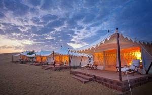 The safari tents in Osian.