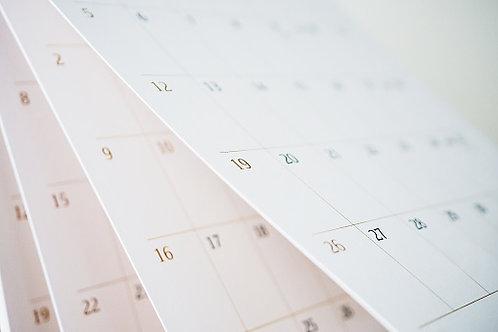 Calendario Tong shu personalizado trimestral