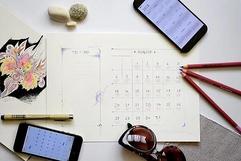 Calendario Tong shu personalizado mensual