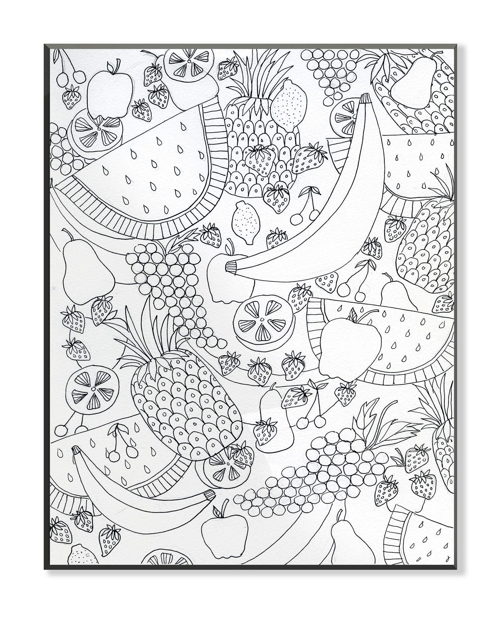 The Stupell Home Decor Collection Floral Topiary DIY Coloring Wall Plaque