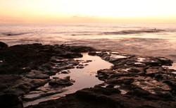 Sunset sufer, Kona, Hawaii