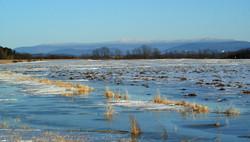 Addison County ice, Vermont, USA