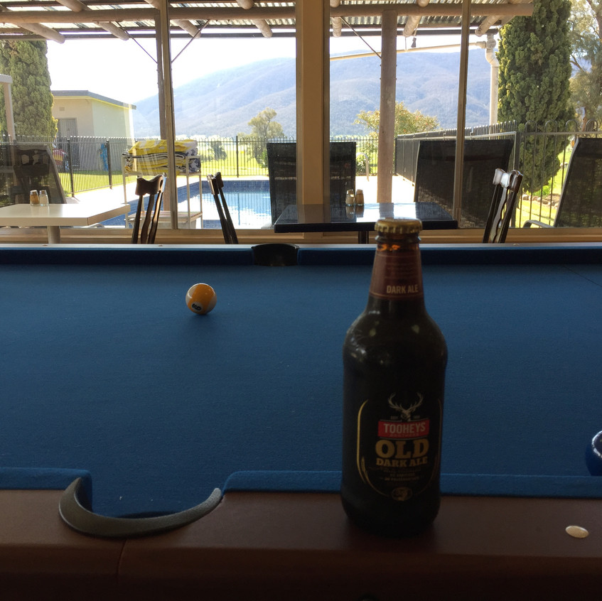 Pool table and Beer