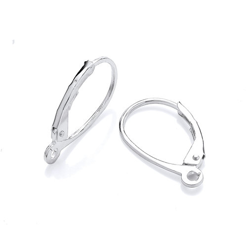 Earring Lever-backs with Open Ring (Pack of 10)