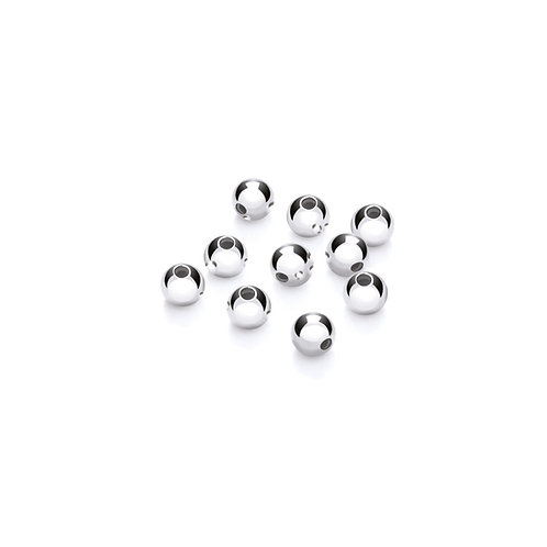 Argentium Silver Hollow Beads 4mm