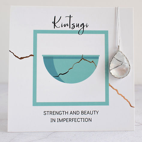 Moonstone and Gallery Wire Kintsugi with