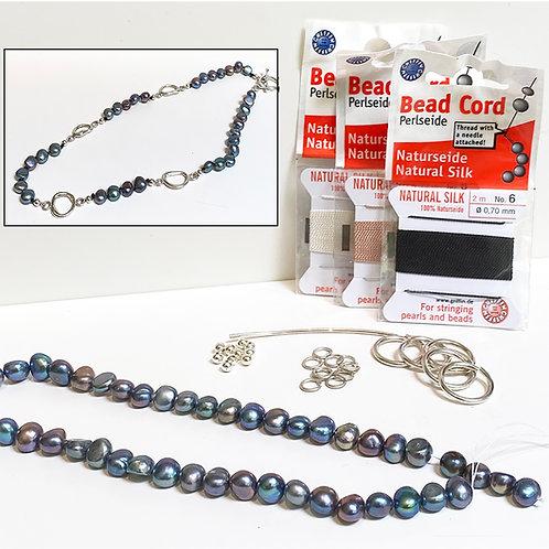 Argentium Pearl Necklace Kit