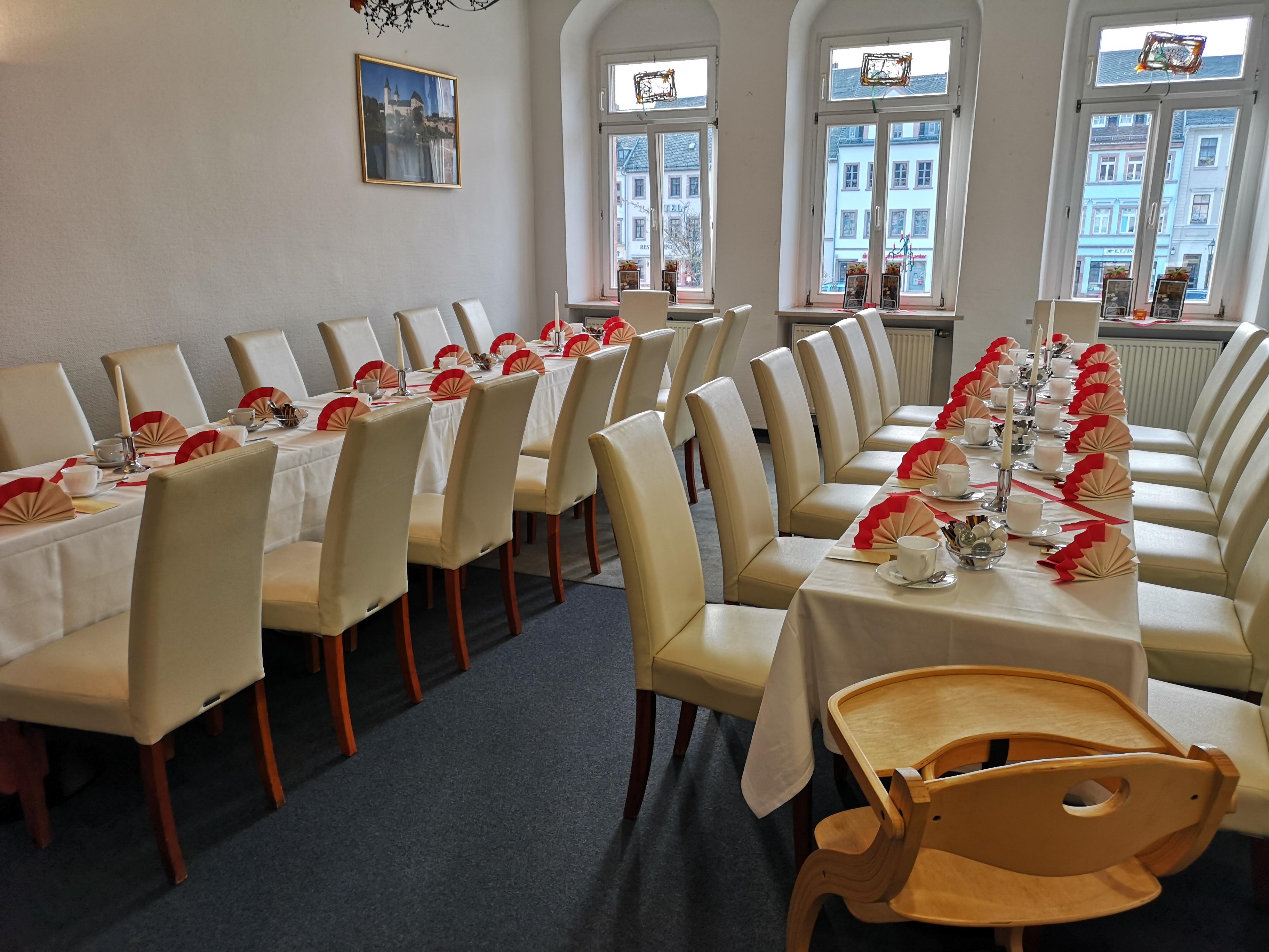 Festlichkeiten im Café Rochlitz