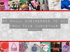 60 Small Businesses to buy from this Christmas! #shopsmall