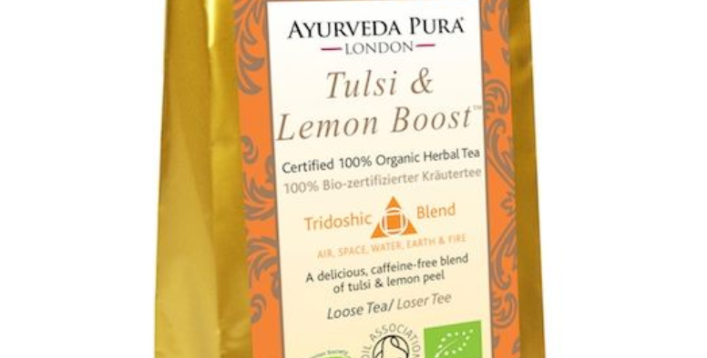 Tulsi & Lemon Boost™ - Certified Organic Herbal Tea - Tridoshic - 50g Loose