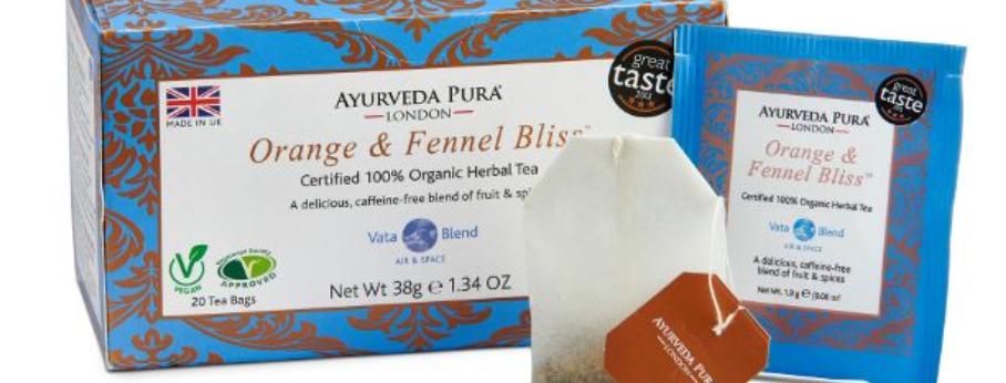 Orange & Fennel Bliss™ Organic Herbal Tea- Vata Blend - Box