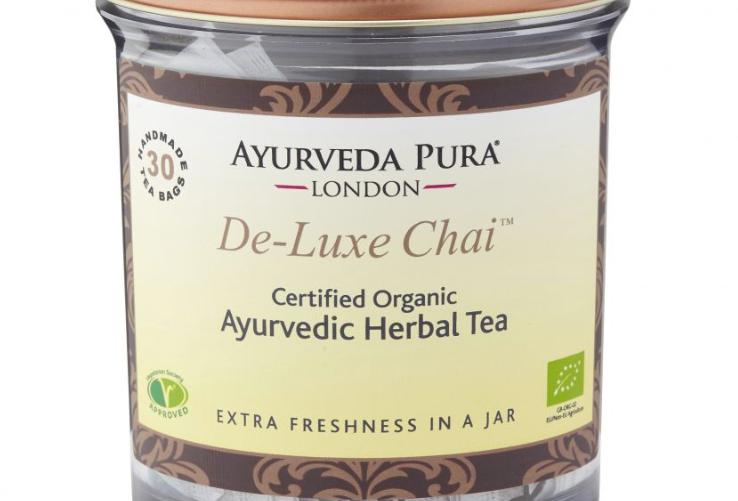 Chai-Deluxe™ – Certified Organic Herbal Tea – Tridoshic Blend – 30 Tea Bags