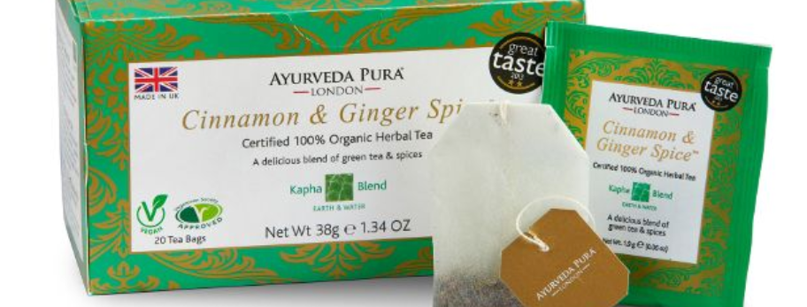 Cinnamon & Ginger Spice™ Organic Herbal Tea- Kapha Blend - Box
