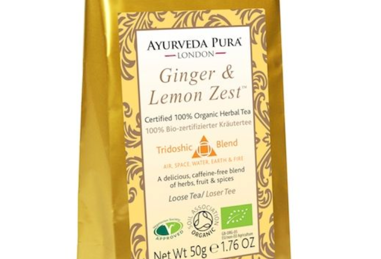 Ginger & Lemon Zest™ - Certified Organic Herbal Tea - Tridoshic - 50g Loose