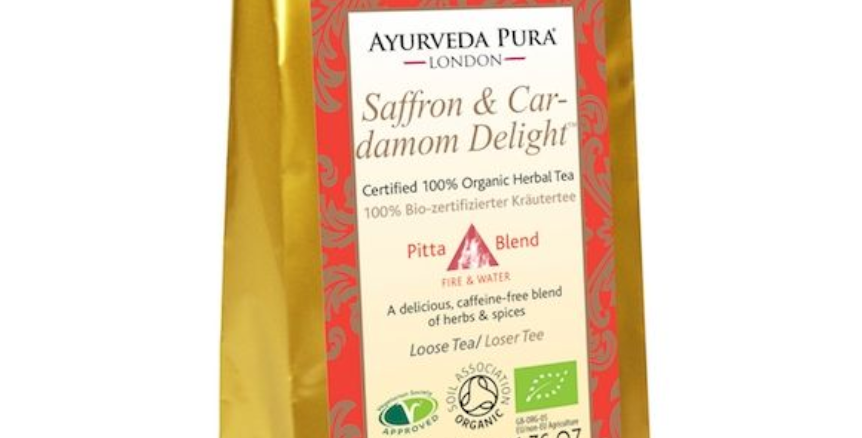Saffron & Cardamom Delight™ - Certified Organic Herbal Tea - Pitta - 50g Loose
